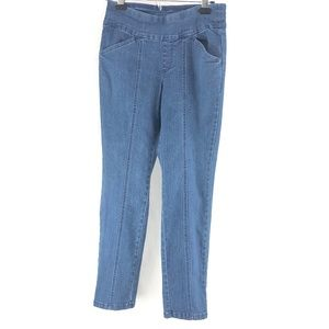 D & Co. Pull Up Straight Blue Denim Jeans 4P